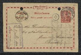 Carte postale de Mr Willfroth (Allemagne, Charlottenburg) offrant en vente un tableau de Peter Pa...